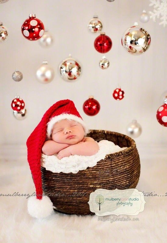 New Ideas For New Born Baby Photography Cute Baby Christmas Pic