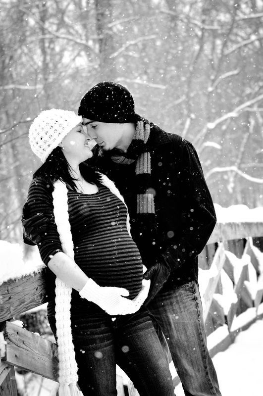 Description winter maternity photo shoot ideas