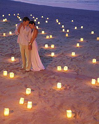Wedding Photography Ideas Beach Wedding Lights
