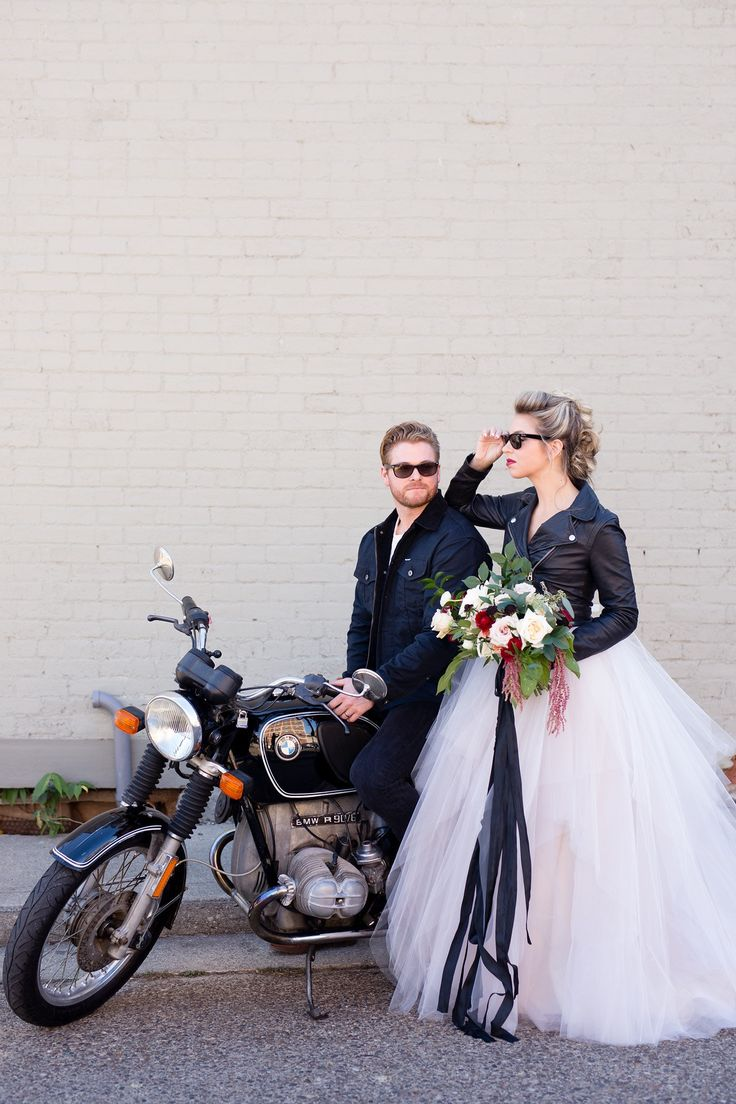 Wedding Photography Inspiration : Rock n\' Roll bride and groom ...