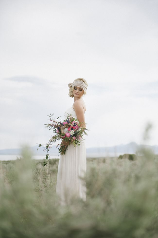 Wedding Photography Ideas A Beautiful Bohemian Bride And A Wild Bouquet Photography Magazine Leading Photography Magazine Bring You The Best Photography From Around The World
