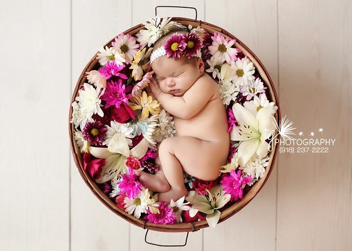 Description flower girl baby photo shoot idea